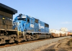 a rare NS SD50 5416 in conrail blue on 214 . Only time will tell when this locomotive becomes a SD40E