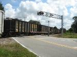SGRR interchange freight with CSX headed south thru Punta Gorda
