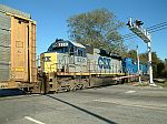 Going away shot of CSX 8331 on train Q211