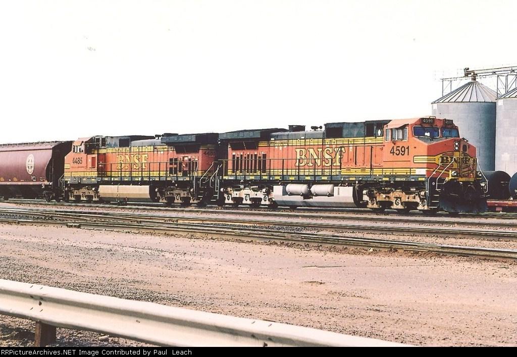Eastbound grain train sits in yard