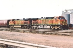 Eastbound grain train sits in yard
