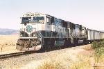 Eastbound coal train continues downgrade