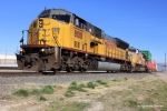 UP 8010 creeps out of the Intermodal Terminal with over 2 miles of train