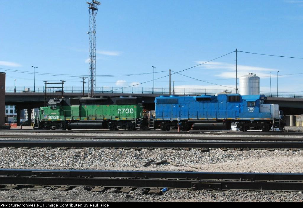 BNSF 2700 & EMDX 789 On Standby