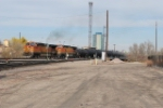 BNSF 4467 Point On Freight Train Departing Denver