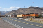 BNSF 7256 Leads The Morning Beer Train East