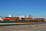 BNSF 7238/4964/7557 Moving Into The Fuel Track