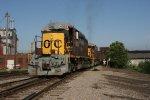 OHCR 4023 trails an empty coal train across the B&O bridge in Zanesville