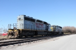 Two SD40-2's wait for more work, or retirement?