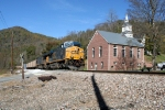 U382 CSX 790 southbound coal Toecane Church