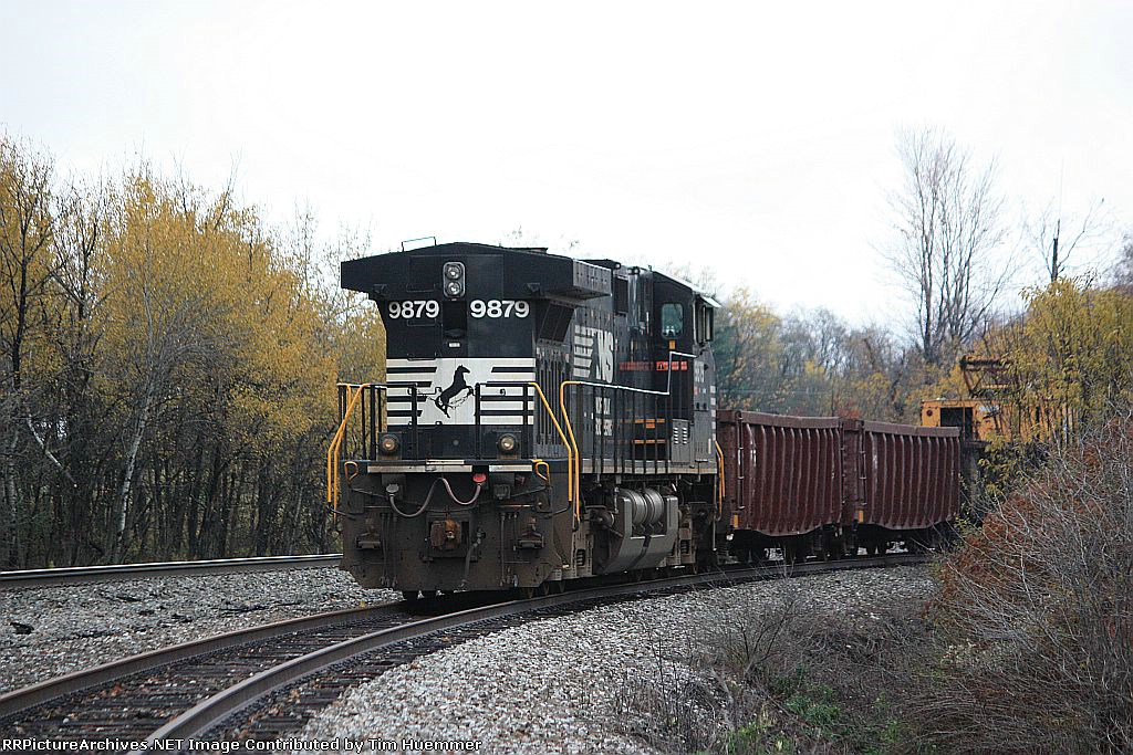 Work train parked in a siding