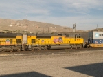 UP 8660 #2 power in a WB doublestack at 3:28pm