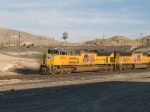 UP 8556 leads a WB doublestack at 3:44pm