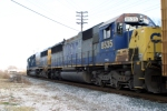 CSXT 8535 trails on Q212 north