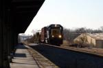 CSX WO11 rail train passes L&N Depot