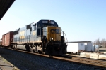 CSX 8529 leads WO11 north past the L&N Depot