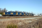 CSX Locomotives in bright paint at Memphis Junction Yard