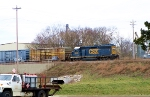 CSX 6042 on Local Y110 just prior to coming off the track