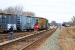 CSX 6042 has come off the track 10:17am 12/30/09