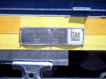 EMD builders plate on GP40-2