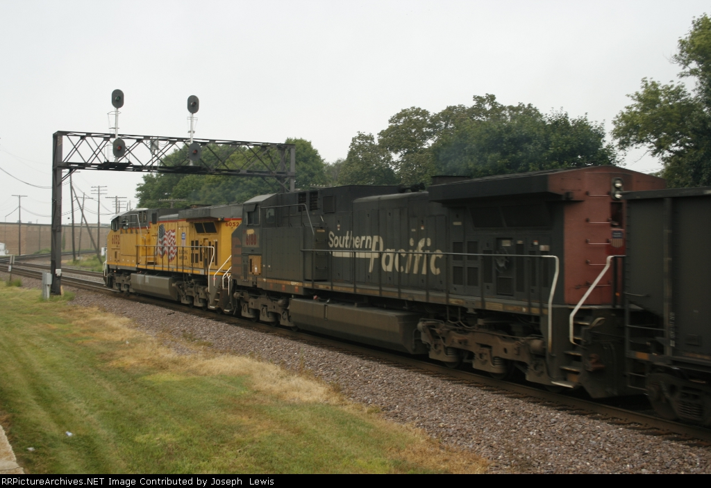 UP 6188 in former SP Colors is 2nd out on WB CWEX Empties!