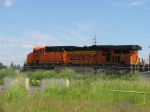 BNSF 5755 leads MERC Inbound Coal Train at Yard Office