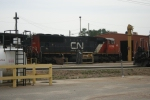 CN 5746 also awaits duty at the fuel racks