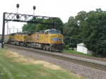 UP 6028 leads EB Coal loads at the RR Park