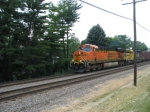 BNSF 7637 leads EB H Train