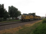 UP 9702 leads a WB Work train!
