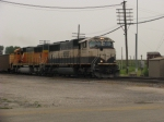 BNSF 9735 leads WB Coal Empty at Speed!