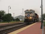 BNSF 9547 heading past the beautiful depot at Princeton!
