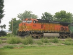 BNSF 4095 waits for traffic to clear at Galesburg before heading WB!