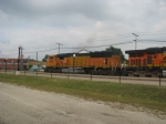 BNSF 8878 leads EB out of the Yard!