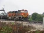 BNSF 1067 has just crest the hill at Edelstein and continues west!