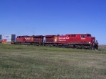 CP 8576 Rumbles Over the Prairie