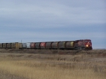 Freight Crosses the Prairie