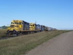 Northern Plains RR Grain Train Ties Down for the Weekend