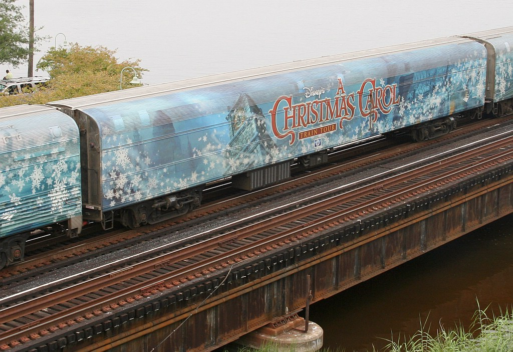 Disney Christmas Carol train