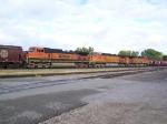 Grain Train Headed up by a Trio of Dash-9's