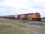 GE Power on a BNSF Grain Train