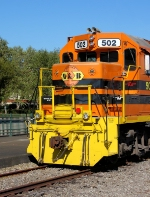 M&B #502 on the City Track at the Meridian Railroad Museum