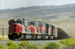 UTAH 5004 accelerates out of Colton, UT after dropping his mid-train and rear helpers