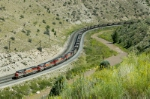 UTAH 5004 brings a loaded train up the 2.2 percent just east of Kyune center siding