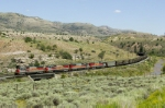 UTAH 5004 climbing the grade jalong the Price River, ust west of Kyune, UT, headed for Soldier Summit,