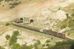 UTAH 5004 exits the tunnel at the Thistle mud slide site