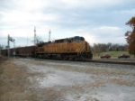 UP 7208 helper on north bound empty coal on the KCS