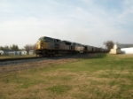 KCS 4007 & 4600 on south bound grain train at 24th street crossing