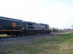 KCS 4591  south bound grain train helper at 24 th street crossing