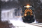 LAL Northbound kicks up snow at Papermill rd
